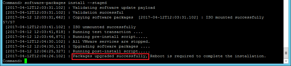 vcsa_installstagedpackages