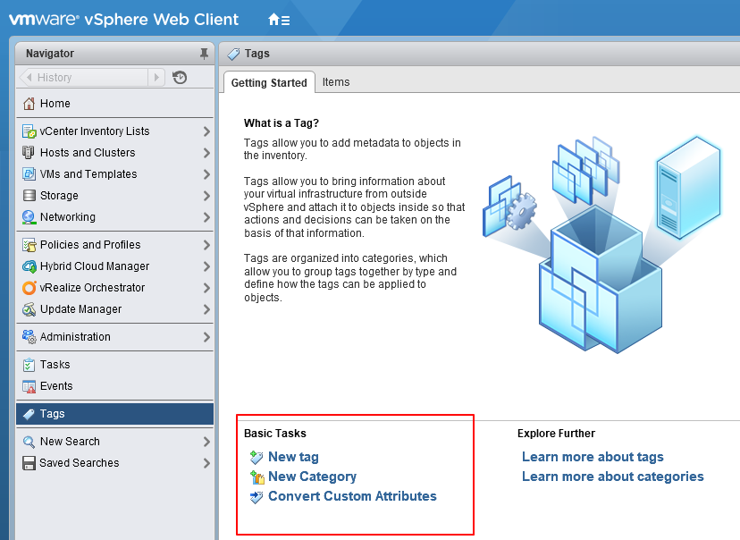 vSphere WebClient Add Tags