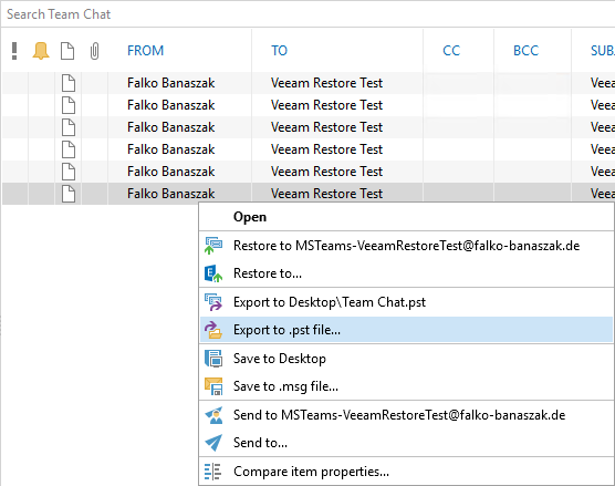 Restore Microsoft Teams data with Veeam for Microsoft Office