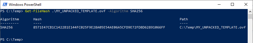 calculate SHA256 checksum