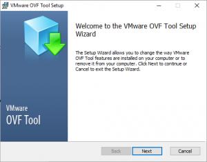 OVF Tool Setup