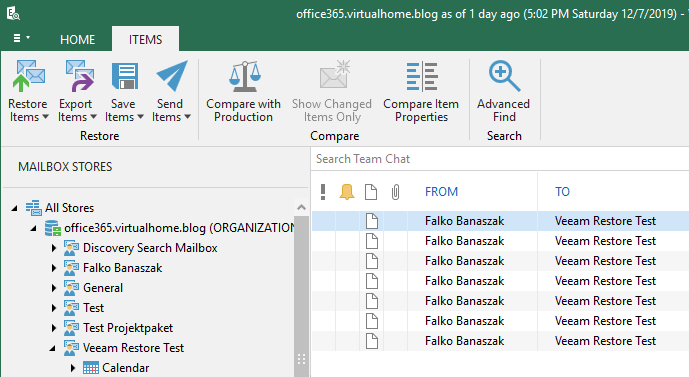 Veeam Backup for Office 365 Explorer