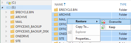 Guest File Restore of VBO Repository