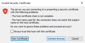 Connect to ESXi host
