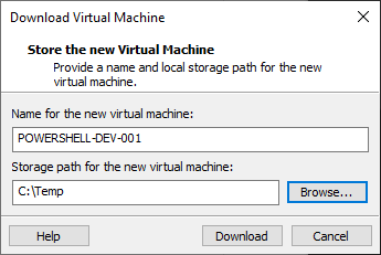 download vSphere virtual machine