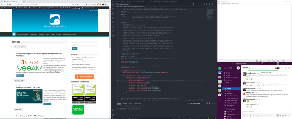 demo window layout