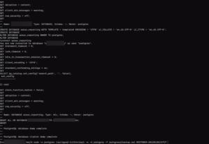 Restore PostgreSQL Command