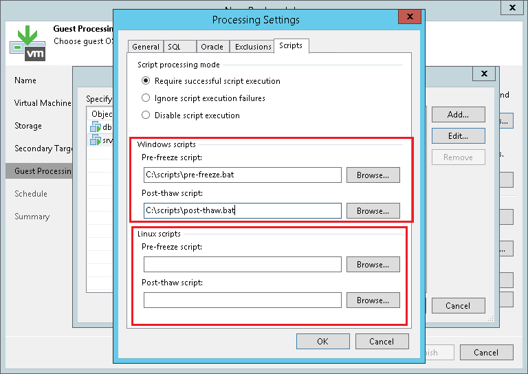 SAP DB2 databases backup with Veeam